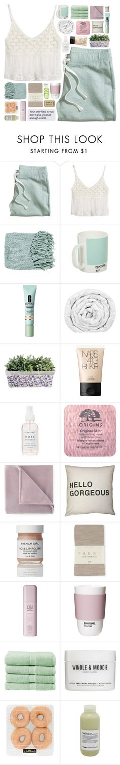 """""""your only flaw is you don't give yourself enough credit"""" by untake-n ❤ liked on Polyvore featuring H&M, Surya, Pantone, Clinique, Brinkhaus, NARS Cosmetics, Origins, Martex, Falke and ROOM COPENHAGEN"""