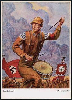 Germany, SA Storm Trooper Propaganda, Drummer Marching