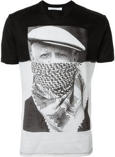 Neil Barrett portrait print T-shirt