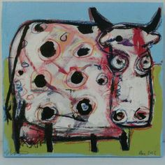 Cow - Would be fun printed on kitchen towels!