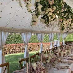 Backyard Wedding Decorations, Engagement Party Decorations, Wedding Centerpieces, Wedding Table, Wedding Marquee Decoration, Party Tent Decorations, Outdoor Tent Wedding, Wedding Tent Lighting, White Tent Wedding