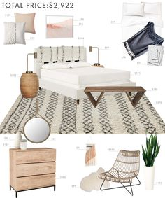 Budget Room Design: Boho Eclectic Bedroom - Emily Henderson