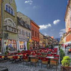 My home town - Pedestrian street in Brasov City, Romania Beautiful Places To Visit, Wonderful Places, Beautiful Streets, Grand Teton National Park, National Parks, Places To Travel, Places To See, Places Around The World, Around The Worlds