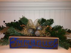 EMMANUEL - wood art - home decor - Christmas etsy.com.shop/ShareHisBlessings  Thanks for viewing my work! I can customize all my projects to fit your style. Let me know if you are looking for a certain color, size or phrase – I'd be happy to make it just for you! Stay Blessed..
