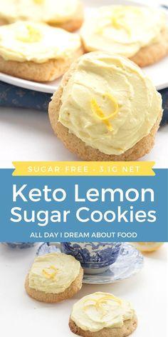Best Low Carb Recipes, Keto Recipes, Cooking Recipes, Flour Recipes, Keto Friendly Desserts, Low Carb Desserts, Lemon Sugar Cookies, Lemon Cupcakes, Recipes Using Cake Mix