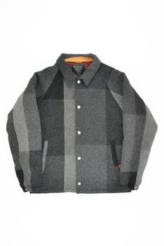 Patchwork wool coach jacket