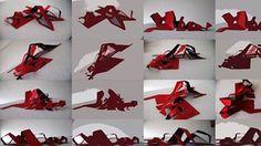 Proceso de diseño, Morfología  Extensión de cintas abstracciones del cuerpo humano.