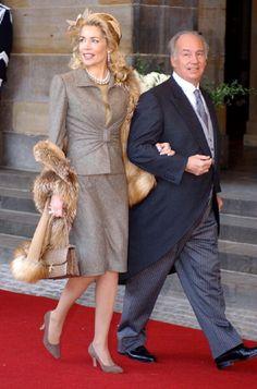 Prince Karim Aga Khan IV with wife Princess Begum Inaara in 2002. (m. 1998 - 2011)