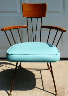 Mid century modern dining table and chairs by VanSharpVintage, $1100.00