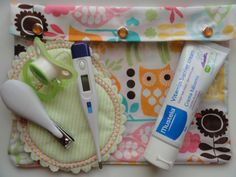 XL Clear Pocket Diaper Bag Organizer for Nursing Wipes First Aid Hospital Medical Supplies (7x9 Forest Owls Fabric) Baby Shower New Mom by OuchPouchShoppe on Etsy https://www.etsy.com/listing/110472843/xl-clear-pocket-diaper-bag-organizer-for