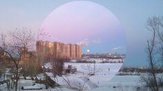 Весна, утро в Новосибирске, Заход луны.Morning in Novosibirsk, Sunset.