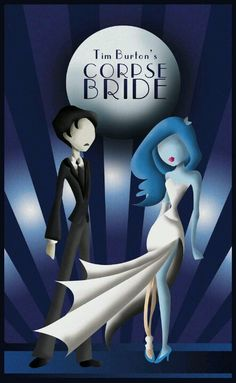 The Corpse Bride - Art Deco by GissieWizzie on DeviantArt Corpse Bride Art, Emily Corpse Bride, Tim Burton Corpse Bride, Tim Burton Characters, Tim Burton Films, Elmo, Bride Silhouette, Cinema, Best Movie Posters