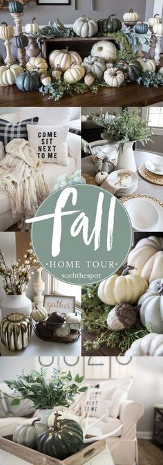 Fall Decor Ideas - From the family room to the farm table centerpiece, I'm sharing simple ideas for DIY fall decorating that will add a rustic touch to your modern farmhouse.