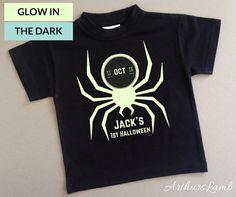 1st halloweenfirst halloweenfirst halloween outfitspider shirtglow in the