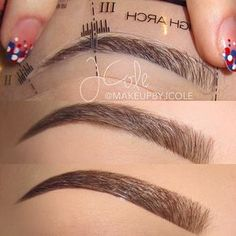 For those that have a hard time filling in their brows evenly, you can use stencils with brow powder! @makeupbyjcole used High Arch stencil. #anastasiabeverlyhills #anastasiabrows