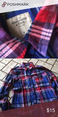 Abercrombie & Fitch Medium flannel Medium Abercrombie & Fitch Tops Tees - Long Sleeve