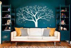Gigante albero di famiglia Photo Frame Wall Decal DIY adesivo da parete in vinile per bambini Room Decoration Bianco