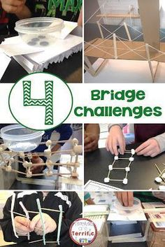 Building bridges in STEM class! Three are bundled and one is available separately. All include teacher directions, lab sheets, hints, and photos! Science Lessons, Teaching Science, Science Ideas, Science Classroom, Activity Ideas, Teaching Ideas, Stem Science, Science Fair, Science Experiments