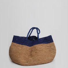 Bicolor bag handmade NORO