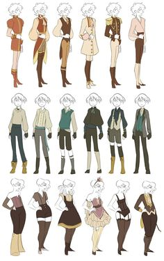 Clothes reference fantasy outfits, fantasy clothes, clothing sketches, fashion sketches, drawing tips Character Design Cartoon, Character Design References, Character Art, Character Reference, Clothing Sketches, Fashion Sketches, Art Reference Poses, Drawing Reference, Drawing Tips