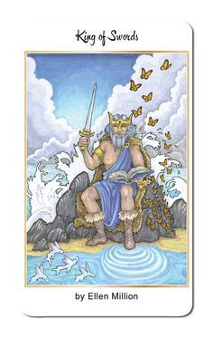 Featured Card of the Day - King of Swords - 78 Tarot Nautical/Tarot of the Water
