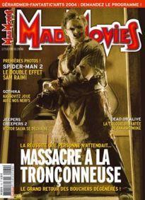 Mad Movies n°160, janvier 2004.  LES FILMS : Spider-Man 2. Dead or Alive 1, 2, 3. Gothika. Jeepers Creepers 2 Dossier Massacre à la tronçonneuse. Gérardmer 2004. Suite carrière Enzo G. Castellari.