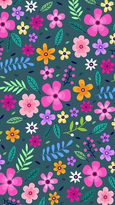 Vintage Flowers Wallpaper, Cute Pastel Wallpaper, Flower Background Wallpaper, Cute Wallpaper Backgrounds, Flower Backgrounds, Pretty Wallpapers, Phone Wallpaper Design, Plant Wallpaper, Free Iphone Wallpaper