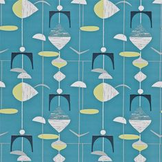 Sanderson - Traditional to contemporary, high quality designer fabrics and wallpapers | Products | British/UK Fabric and Wallpapers | Mobiles (DFIF210215) | 50s Wallpapers