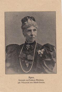 Photo Herzogin Agnes v Sachsen Altenburg Prinzessin v Anhalt Dessau 1908