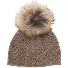 Inverni Fur Pom Pom Hat (38245 RSD) ❤ liked on Polyvore featuring accessories, hats, beanies, bonnets, fur, pompom hat, fur beanie, fur hat, fox beanie and beanie hat