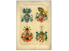 Hugo Gerhard Ströhl: Wappenrolle Österreich-Ungarns. Erste Auflage, Wien 1890, Tafel V.
