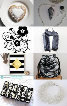 Everything is Black or White!! by Nicky Payne on Etsy--Pinned with TreasuryPin.com #promotingwomen