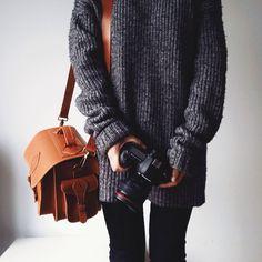 Grafea Leather Camera Bag in Caramel