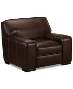 Kassidy Leather Chair, Created For Macyu0027s | Macys.com
