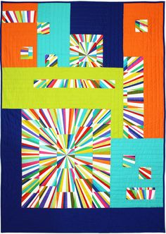 Free pattern. There are lots of free patterns on this site. They need to be commended for being so generous. Fractured Fireworks Quilt by Marinda Stewart