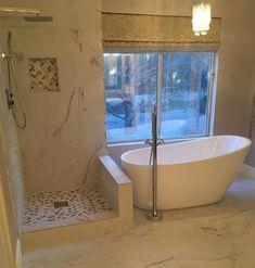 Jacuzzi Bathroom, Aqua Bathroom, Bathroom Renos, Bathroom Layout, Bathroom Renovations, Bathroom Interior, Modern Bathroom, Small Bathroom, Freestanding Bathtub