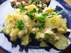 Berlin potato salad or Berliner Kartoffelsalat in German is a specialty from the capital of Germany Berlin. Great side salad for Bratwurst or Schnitzel. Original German Recipe!