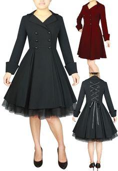 Rockabilly coat   Xs to 28   Blueberryhillfashions.com