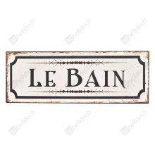 Štítok LE BAIN 36cm x 13cm Shabby Chic Signs, Lol, Data, Home Decor, Bathroom, Laughing So Hard, Homemade Home Decor, Washroom, Bath Room