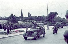 World War II. Parade of the German and Italian troops in Athens (Greece). On May 3, 1941. Pin by Paolo Marzioli
