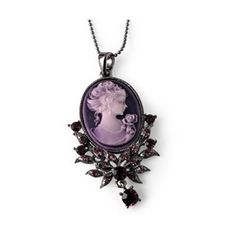 Purple Cameo Necklace - Red Hat Society Store