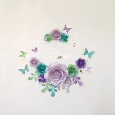 Encantadora flor de papel arreglo  flores de papel por MioGallery