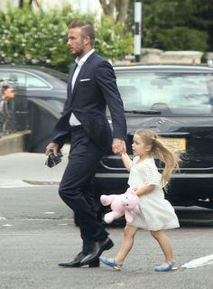 David Beckham & Harper Beckham #London #love <3