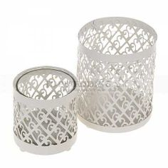 The Chic Ivory Cylinder Candle Holder Winter Wedding Favors