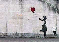 banksy girl with a balloon southbank by artofthestate, via Flickr