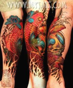 Koi fish tattoo by lotus flower girl, via Flickr