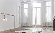 Appearing like simple line drawings that have sprung from the page, the bent steel tube sculptures of German artist Erika Hock possess almost life-like qualities. Arranged across Antwerp's Gallery Sofie Van de Velde, each sculpture strikes a pose; whil...