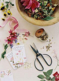 Flatlay photography   Product photo idea   flower seed packets    vintage floral still life flat lay