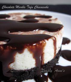 Chocolate Marble Tofu Cheesecake