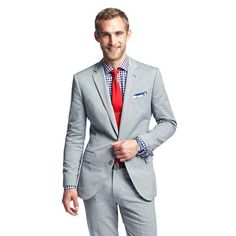Ludlow suit jacket with double vent in Italian oxford cloth.  knees going weak.